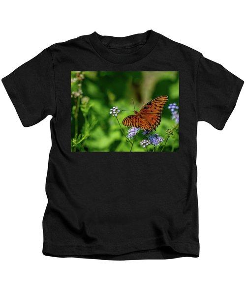 Gulf Fritillary Butterfly Kids T-Shirt