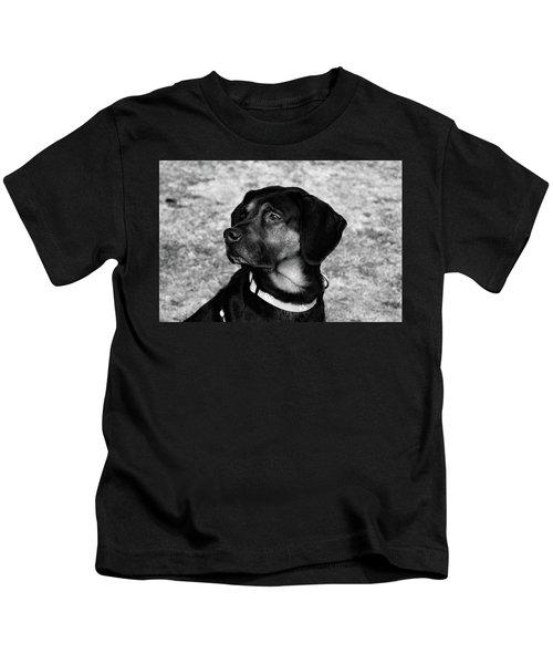 Gus - Black And White Kids T-Shirt