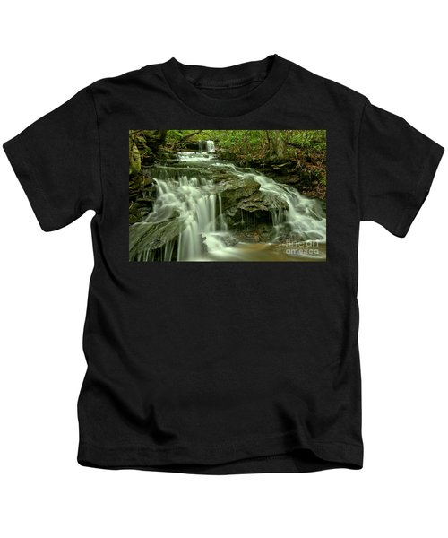 Gushing Through Forbes State Forest Kids T-Shirt