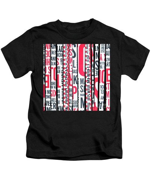 Haiku In Red And Black Kids T-Shirt