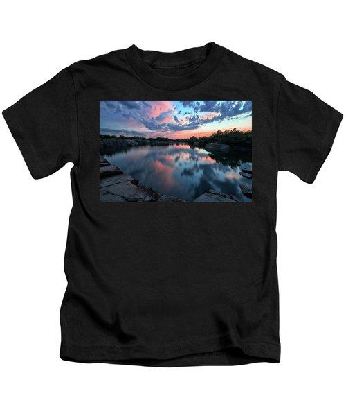 Halibut Pt Quarry Reflection Rockport Ma Kids T-Shirt