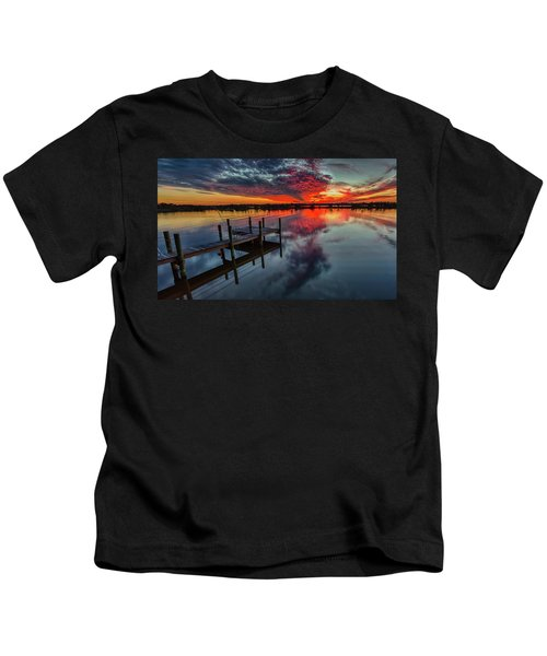 Halifax River Sunset Kids T-Shirt