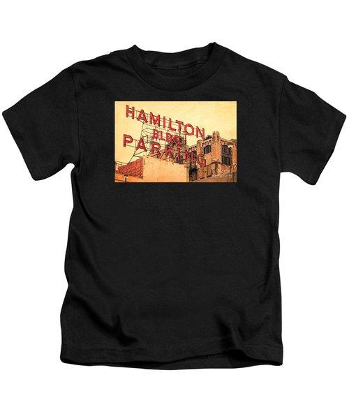 Hamilton Bldg Parking Sign Kids T-Shirt