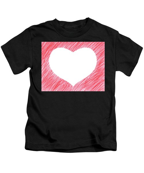 Hand-drawn Red Heart Shape Kids T-Shirt
