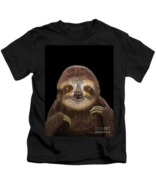 Happy Three Toe Sloth Kids T-Shirt