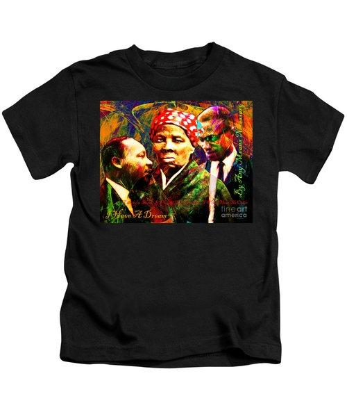 Harriet Tubman Martin Luther King Jr Malcolm X 20160421 Text Kids T-Shirt