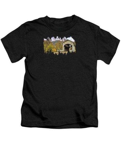 Harris Covered Bridge Kids T-Shirt by Thom Zehrfeld