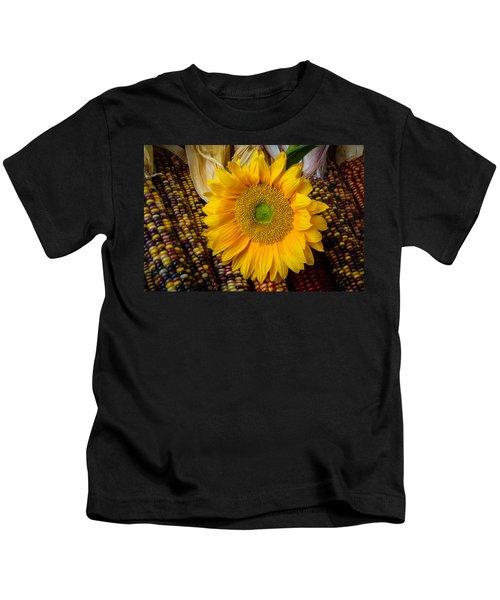 Harvest Sunflower Kids T-Shirt