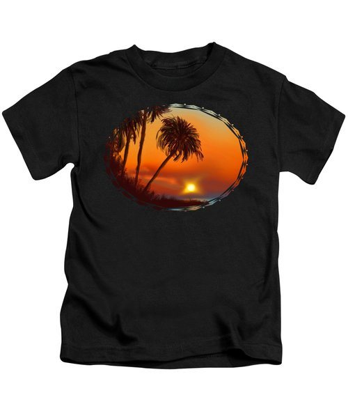 Hawaiian Sunset Kids T-Shirt