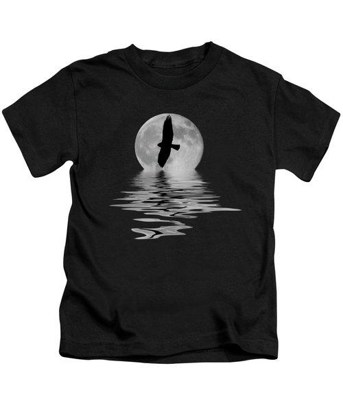 Hawk In The Moonlight 2 Kids T-Shirt