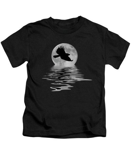 Hawk In The Moonlight Kids T-Shirt