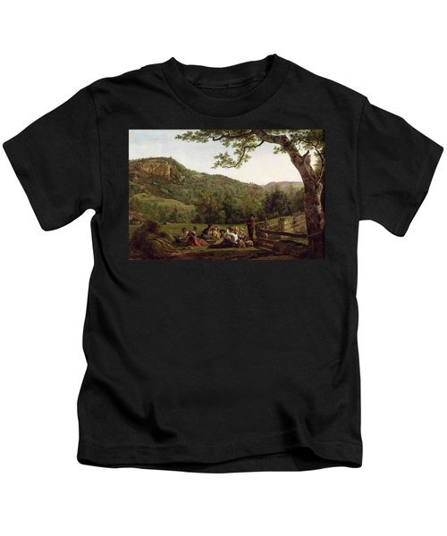 Haymakers Picnicking In A Field Kids T-Shirt