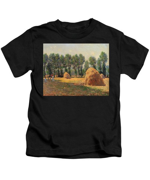Haystacks At Giverny 1 Kids T-Shirt