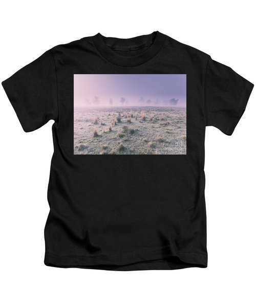 Hazy Australian Winter Scene Kids T-Shirt