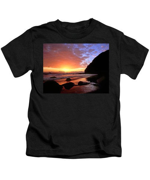 Headlands At Sunset Kids T-Shirt