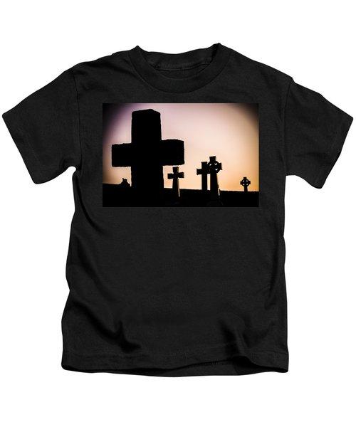 Headstones At Night, Peak District, England, Uk Kids T-Shirt