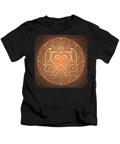 Heart Of Wisdom Mandala Kids T-Shirt