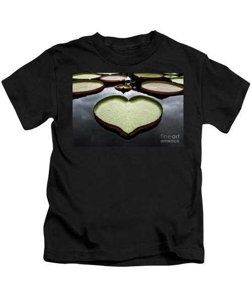 Heart Shaped Lily Pad Kids T-Shirt