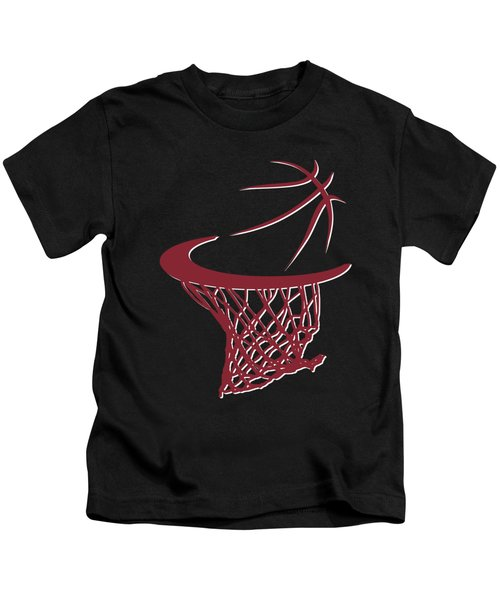 Heat Basketball Hoop Kids T-Shirt