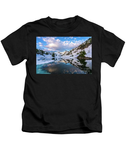 Heather Meadows Blue Ice Reflection Cloudscape Kids T-Shirt