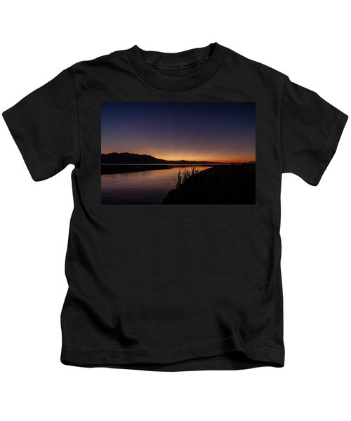 Heavenly Sunset Beams At Lake Tahoe Kids T-Shirt
