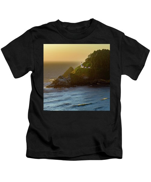 Heceta Head Lighthouse At Sunset Kids T-Shirt