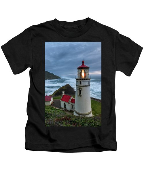 Heceta Head Lighthouse Evening Kids T-Shirt