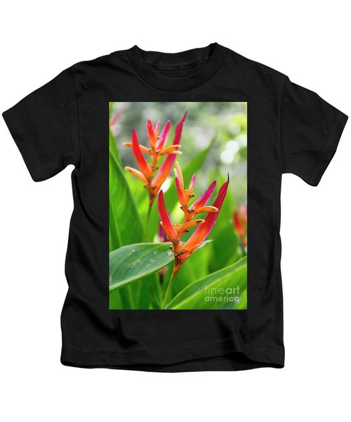Heliconia Psittacorum Kids T-Shirt
