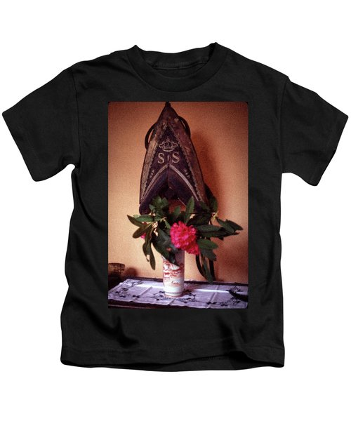 Helmet And Flower Kids T-Shirt