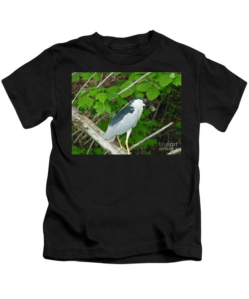 Heron With Dinner Kids T-Shirt