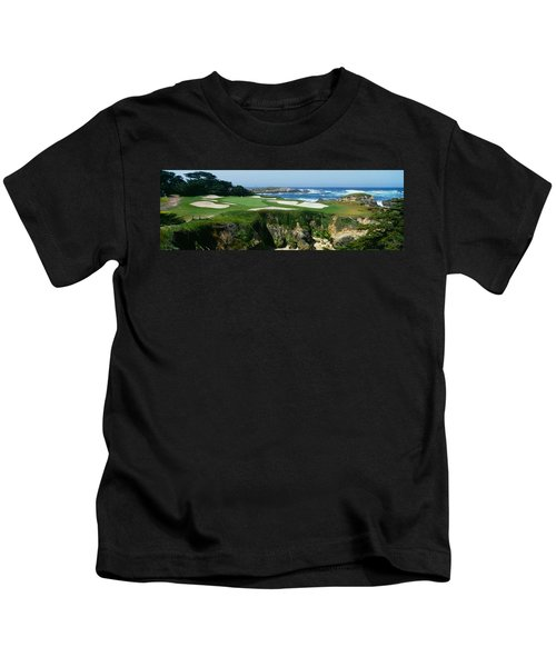 High Angle View Of A Golf Course Kids T-Shirt