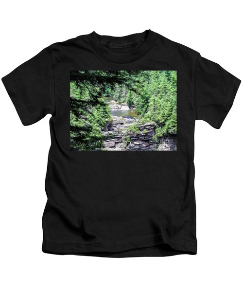High View Of The Falls Kids T-Shirt