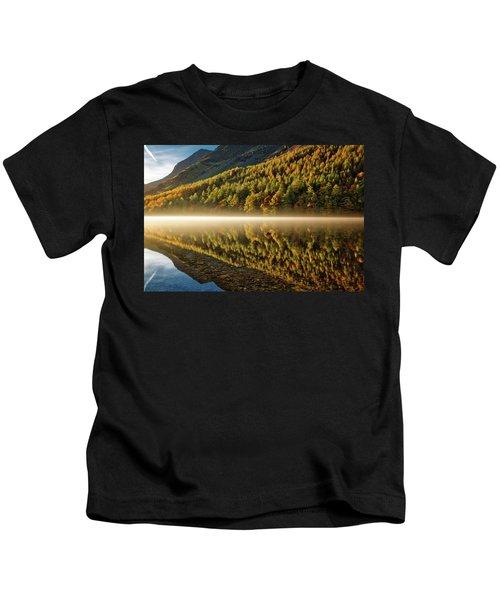 Hills In The Mist Kids T-Shirt