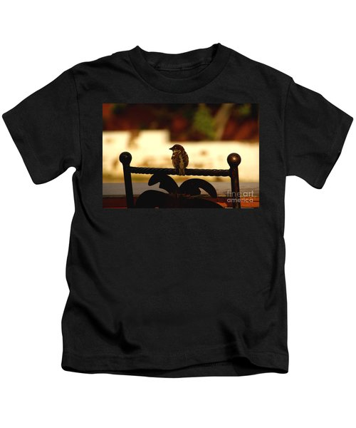 His Eye Is On The Sparrow Kids T-Shirt