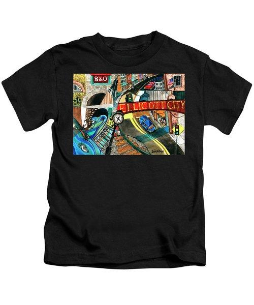 Historic Ellicott City Steam And Stone Kids T-Shirt