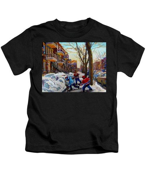 Hockey On De Bullion  Kids T-Shirt