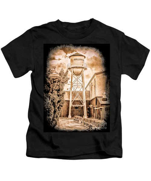 Hollywood Water Tower Kids T-Shirt