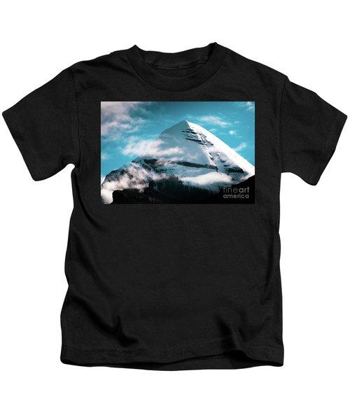 Holy Kailas Himalayas Mountain Tibet Yantra.lv Kids T-Shirt