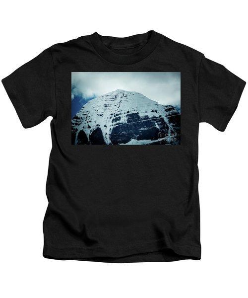 Holy Kailas North Slop Fragment Himalayas Tibet Yantra.lv Kids T-Shirt