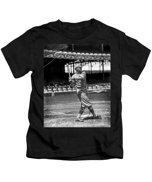 Home Run Babe Ruth Kids T-Shirt by Jon Neidert