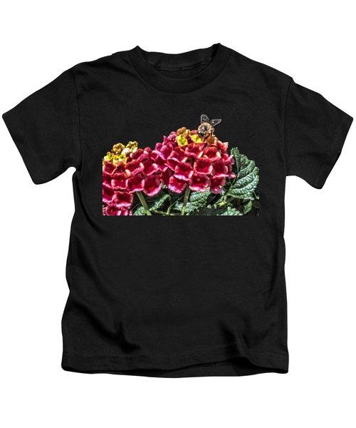 Honey Bee On Flower Kids T-Shirt