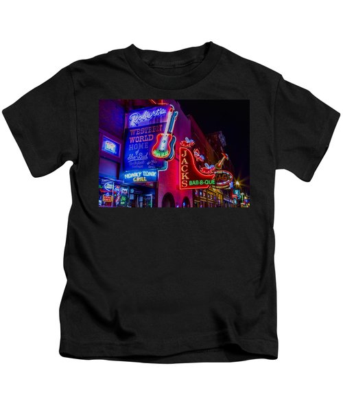 Honky Tonk Broadway Kids T-Shirt by Stephen Stookey