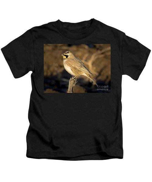 Horned Lark Kids T-Shirt