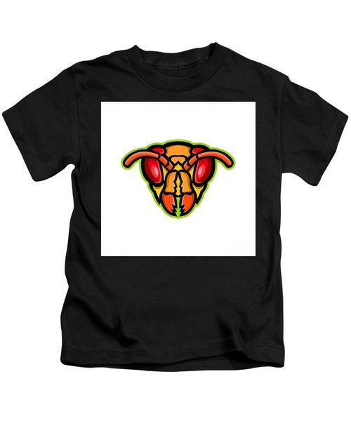 Hornet Head Mascot Kids T-Shirt
