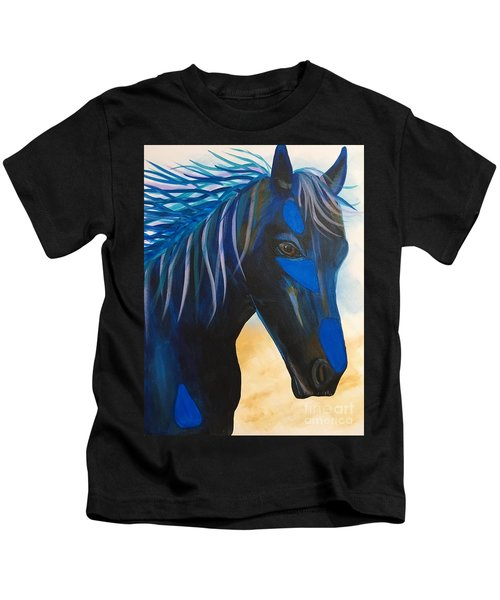 Horse Blue Boy Kids T-Shirt