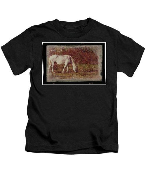 Horse Grazing Kids T-Shirt