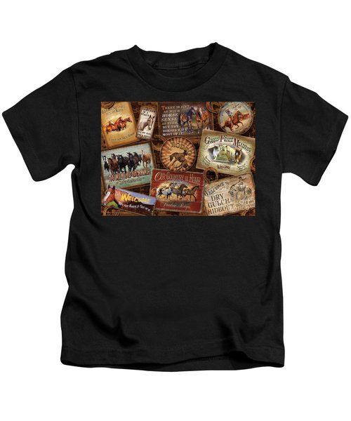 Horse Sign Collage Kids T-Shirt