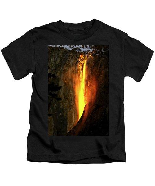 Horse Tail Fall Aglow Kids T-Shirt