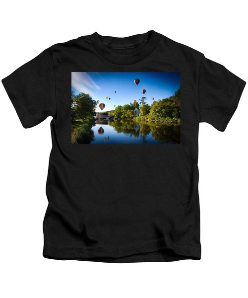 Hot Air Balloons In Quechee Kids T-Shirt
