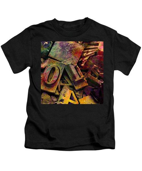 Hot Metal Type Kids T-Shirt